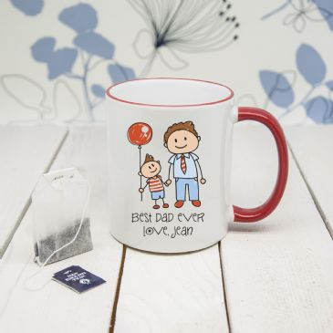 I Love My Dad Personalised Kid's Artwork Coloured Mug